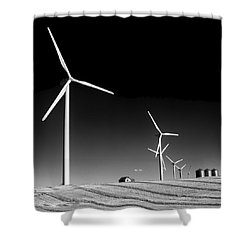 Wind Farm Shower Curtain by Trever Miller