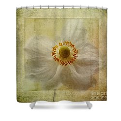 Windflower Textures Shower Curtain by John Edwards