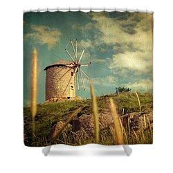 Windmill 14 48 Shower Curtain by Taylan Soyturk