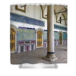 Window Of The Chamber Of The Holy Mantle In The Topkapi Palace Istanbul Turkey Shower Curtain by Ralph A  Ledergerber-Photography