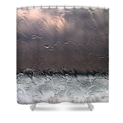 Window Sea Storm Shower Curtain by Stelios Kleanthous