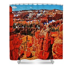 Window To Bryce Shower Curtain by Benjamin Yeager