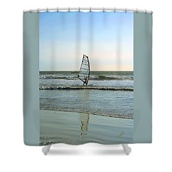 Windsurfing Shower Curtain by Ben and Raisa Gertsberg