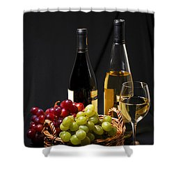 Wine And Grapes Shower Curtain by Elena Elisseeva