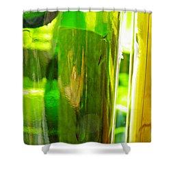 Wine Bottles 21 Shower Curtain by Sarah Loft