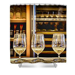 Wine Tasting  Shower Curtain by Elena Elisseeva