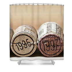 Wine Vintages Shower Curtain by Frank Tschakert
