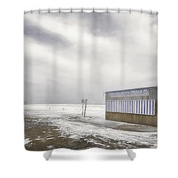 Winter At The Cabana Shower Curtain by Scott Norris