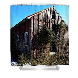 Winter Barn Shower Curtain by Richard Reeve