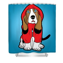 Winter Dog  Shower Curtain by Mark Ashkenazi