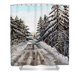 Winter In The Boons Shower Curtain by Shana Rowe Jackson