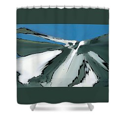 Winter In The Mountains Shower Curtain by Ben and Raisa Gertsberg