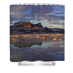 Winter In The Salt Flats Shower Curtain by Chad Dutson