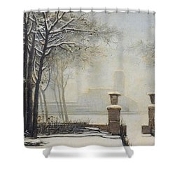 Winter Landscape Shower Curtain by Alessandro Guardassoni