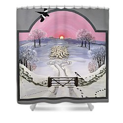 Winter Shower Curtain by Maggie Rowe