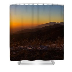 Winter Sunset Shower Curtain by Heidi Smith