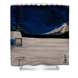 Winter's Eve Shower Curtain by Ian Donley