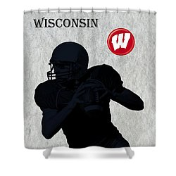 Wisconsin Football Shower Curtain by David Dehner
