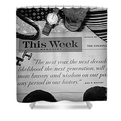 Wisdom Shower Curtain by Beverly Shelby
