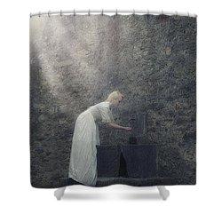 Wishing Well Shower Curtain by Joana Kruse