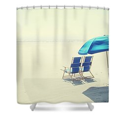 Wishing You Were Here Shower Curtain by Amy Tyler