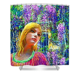 Wisteria Shower Curtain by Jane Small