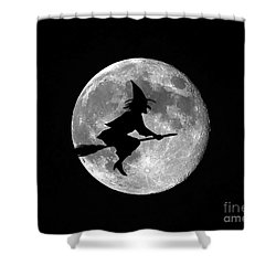 Witchy Moon Shower Curtain by Al Powell Photography USA