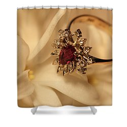 With Love Shower Curtain by Joy Watson