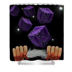 With The Lightest Touch Shower Curtain by Barbara St Jean