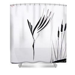 With Will And Determination Shower Curtain by Oiyee  At Oystudio