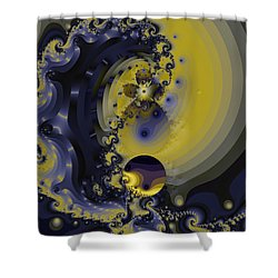 Within A Wave Shower Curtain by Elizabeth McTaggart