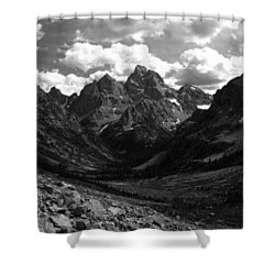 Within The North Fork Of Cascade Canyon Shower Curtain by Raymond Salani III