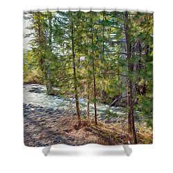 Wolf Creek Stretching Out Shower Curtain by Omaste Witkowski