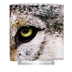 Wolf Eyes By Sharon Cummings Shower Curtain by Sharon Cummings