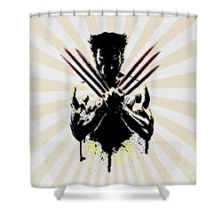 Wolverine Shower Curtain by Mark Ashkenazi