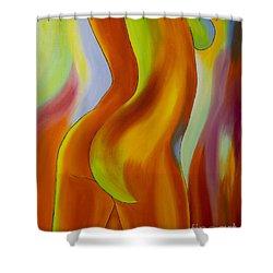 Woman 2 Shower Curtain by Veikko Suikkanen