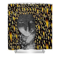 Woman In Flames Shower Curtain by Pepita Selles