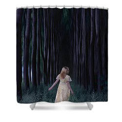 Woman In Forest Shower Curtain by Joana Kruse