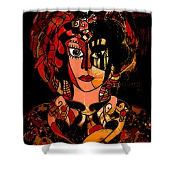 Woman Of Mystery Shower Curtain by Natalie Holland