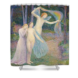 Women Amongst The Trees Shower Curtain by Hippolyte Petitjean
