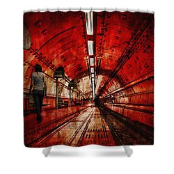 Wondering Shower Curtain by Jack Zulli
