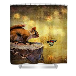 Woodland Wonder Shower Curtain by Lois Bryan