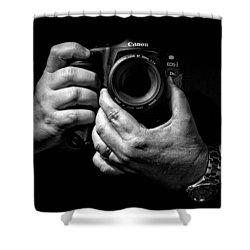 Working Hands Shower Curtain by Jeff Burton