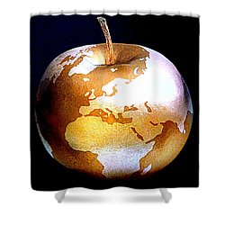 World Apple Shower Curtain by The Creative Minds Art and Photography