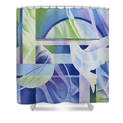 World Peace 3 Shower Curtain by Deborah Ronglien