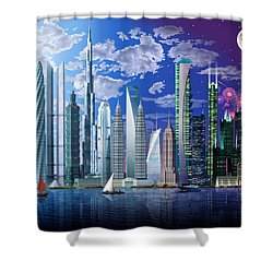 Worlds Tallest Buildings Shower Curtain by Garry Walton