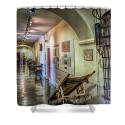 Woven Stretcher  Shower Curtain by Adrian Evans