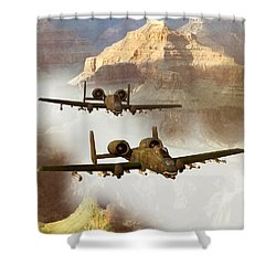 Wrath Of The Warthog Shower Curtain by Dieter Carlton