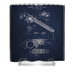 Wrench Patent Drawing From 1896 Shower Curtain by Aged Pixel
