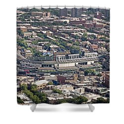 Wrigley Field - Home Of The Chicago Cubs Shower Curtain by Adam Romanowicz